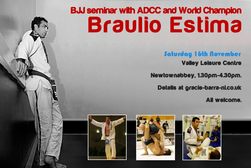 Braulio Estima in Belfast - World Champion BJJ 16th November 2013